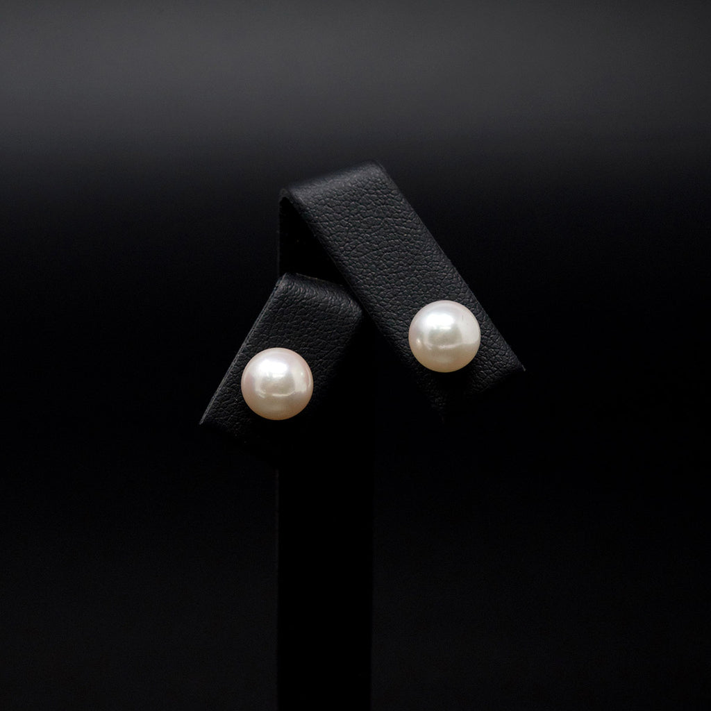18ct White Gold Pearl Stud Earrings, sold at Nouveau Jewellers in Manchester