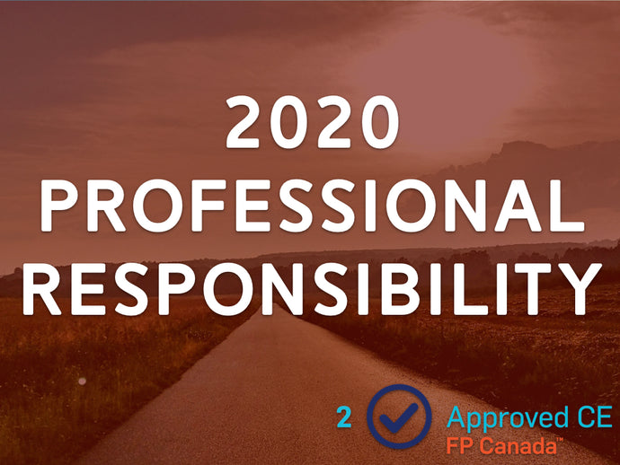 2020 Professional Responsibility