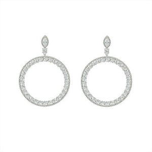 CERCEI ROYAL CRYSTAL HOOPS