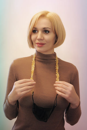 ACCESORIU MASCĀ LANȚ FASHION ADDICTED - HONEY