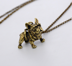 Vintage Golden Frenchie Necklace