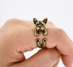 Vintage Golden Frenchie Ring