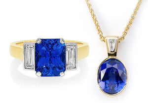 Bespoke Ring and Pendant – Blue Sapphire
