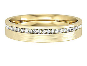 Matt Gold and Diamond Wedding Band