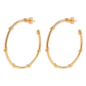 Large Knot Hoop Earrings