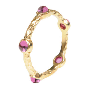 Cabouchon Gemstone Vermeil Ring
