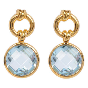 Knot Drop Vermeil Earrings