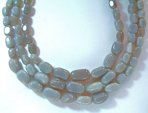 Three Strand Grey Quartz necklace