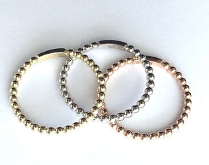 Gold Bobble Stacking Rings 9ct Yellow/White/Rose