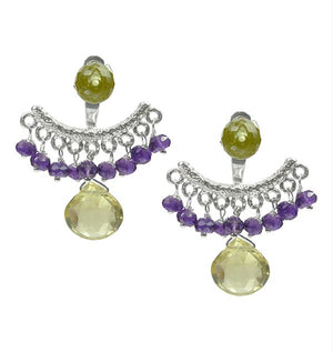 Slider Earrings with Gemstones