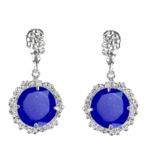 Sunflower Lapis Drop Earrings
