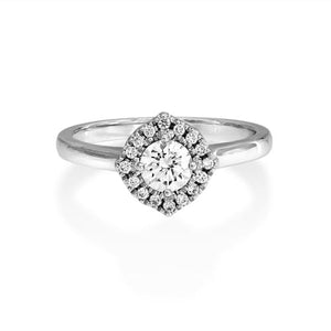 Diamond Cathedral Set Ring