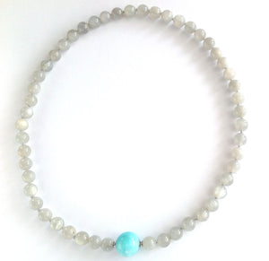 Moonstone Necklace with Changing Clasp