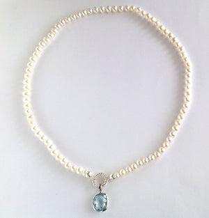 Pearl Necklace with Detachable Pendant
