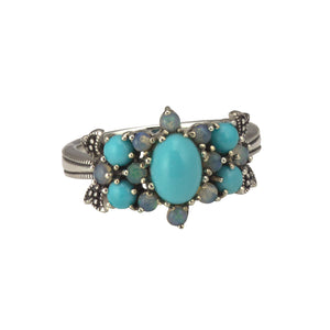 Opal and Turquoise Ring