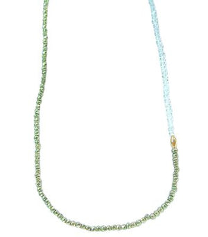 Pyrite/Clear Zircon Necklace