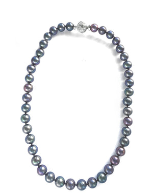Peacock Grey Pearl Necklace