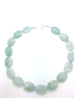 Aqua Oval Necklace