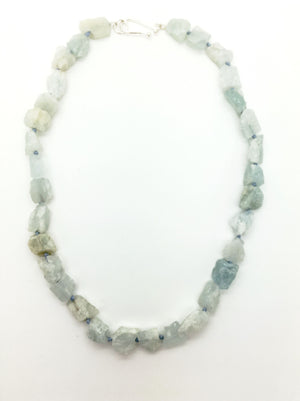 Roughcut Aquamarine Necklace