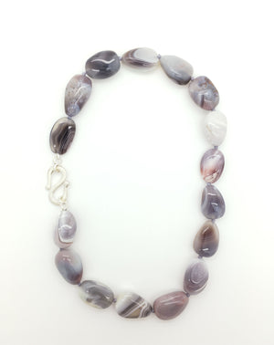 Polished Botswana Agate Necklace