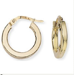 Hoop Earrings Square Profile