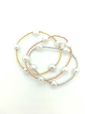 Pearl and Bead Stretch Bracelet