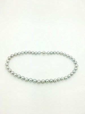 10mm Dove Grey Pearl Necklace