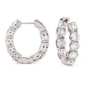 Diamond Set Hoop Earrings