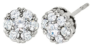 Diamond Petite Cluster Stud Earrings