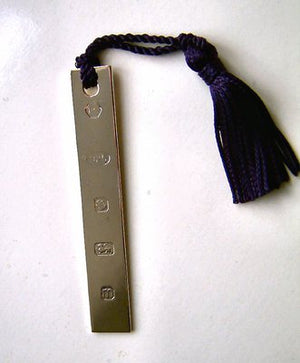 Silver Navy Tassle Bookmark
