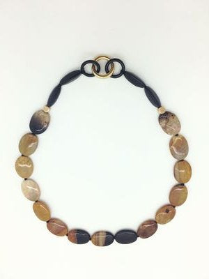 Jasper and Onyx Necklace