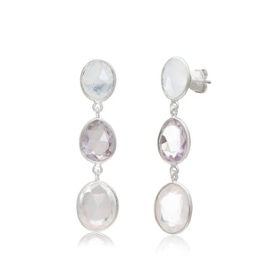 Suri 3 Drop Cascade Earrings