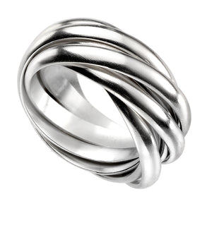 Silver Multi-Band Ring
