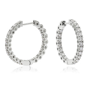 Fine Diamond Hoop Earrings