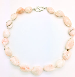 Pale Pink Coral Necklace