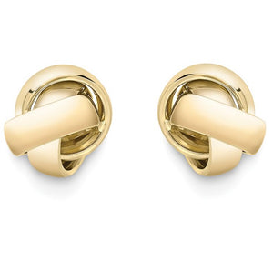9 Carat Large Knot Earrings