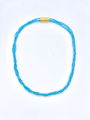Turquoise 4 Strand Necklace