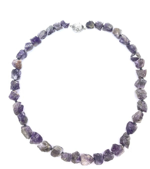 Roughcut Amethyst Necklace
