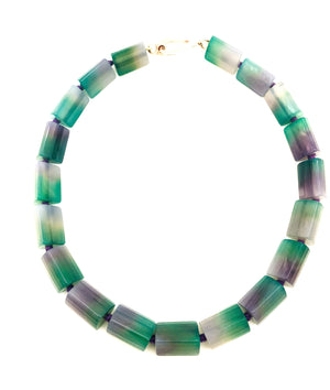 Purple Banded Flourite Necklace