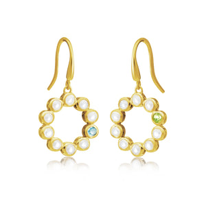 Halo Pearl Drop Earrings