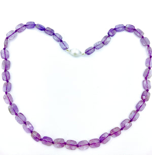 Amethyst Faceted Necklace