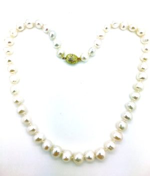 Semi-Baroque Pearl 9mm Necklace
