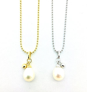 Pearl and Bead Drop Pendant