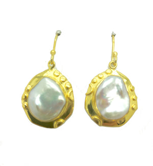 Mabe Pearl Drop Earrings
