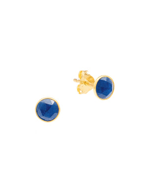 Gemstone Gold Stud Earrings