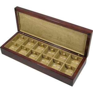 Camphor Burl Wood 12 Cufflink Box