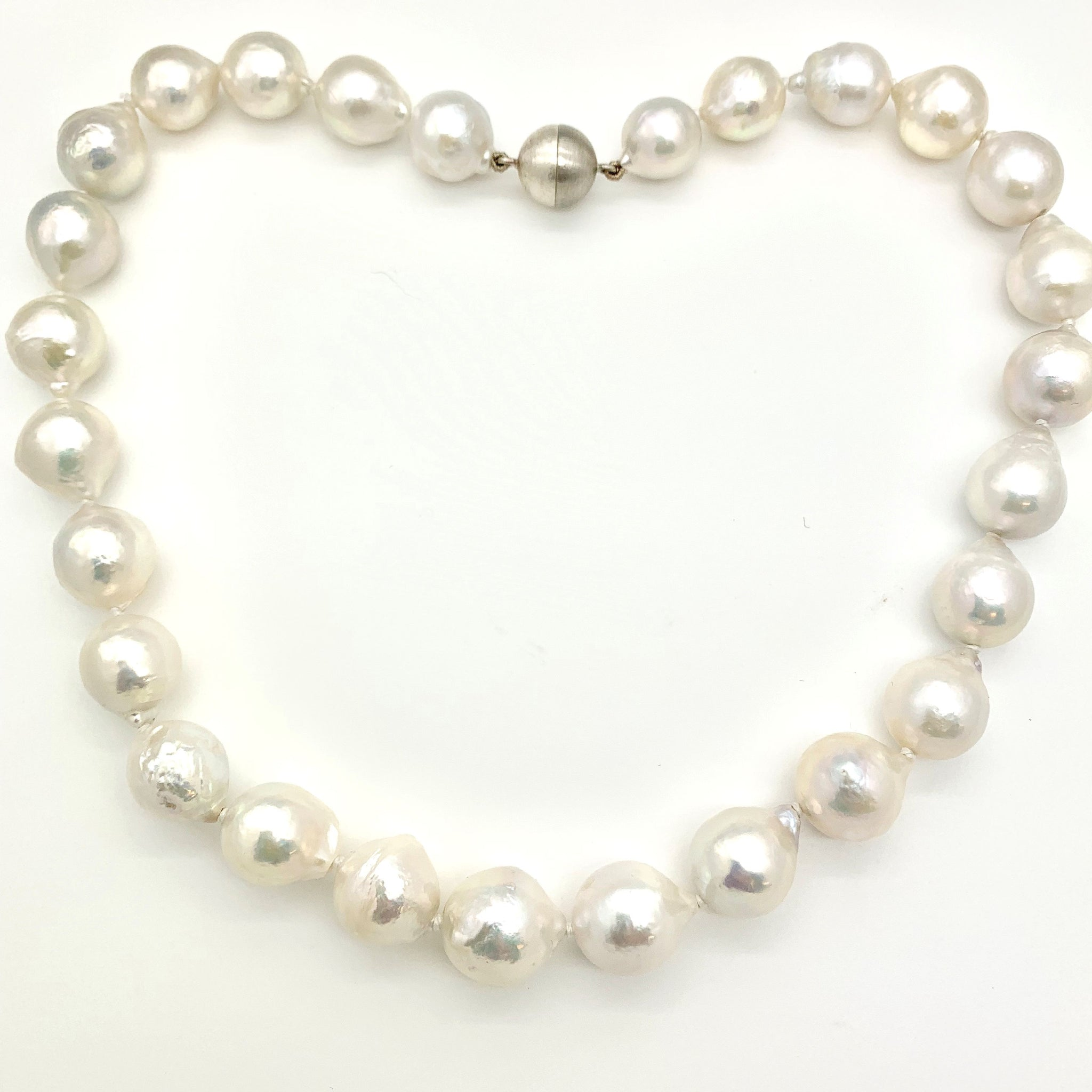 White Cultured Pearl Necklace Chenevix Jewellery