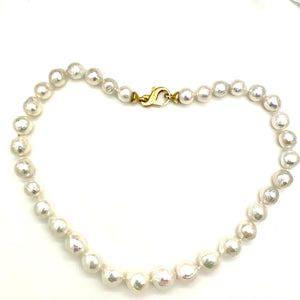 Semi Baroque Cultured Pearl Necklace