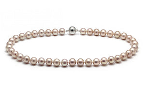 Pink Nucleated Freshwater Pearl Necklace