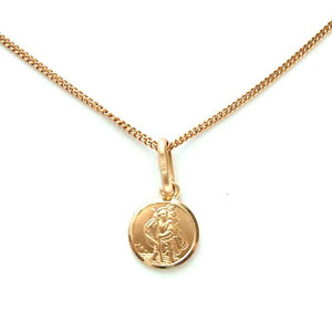 Round Gold St Christopher